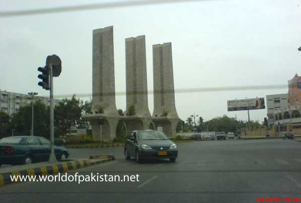 Teen talwar (three swords ) round about in Karachi